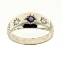Amethyst Ring Gypsy Ring Sterling Silver Handmade In Jewellery Quarter B'ham