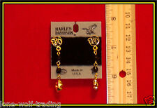 "Harley Davidson ""Floral"" Earrings-Gold H302G-DE"
