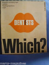 VINTAGE WHICH CONSUMER MAGAZINE MARCH 1973 LIPSTICK DENTISTS LAGER
