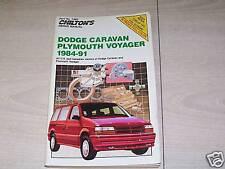 1984-91 DODGE CARAVAN PLYMOUTH VOYAGER CHILTON'S REPAIR MANUAL FREE SHIPPING