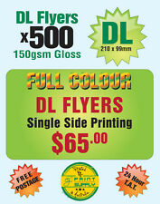 500 A6 / DL Single Sided Flyer Printing on 150gsm GlossFlyers