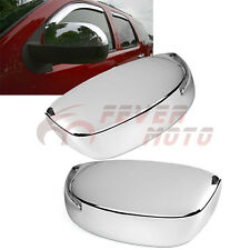 Triple Chrome Upper Half Mirror Cover Trim Bezel For 2007-13 GMC Sierra Yukon FM