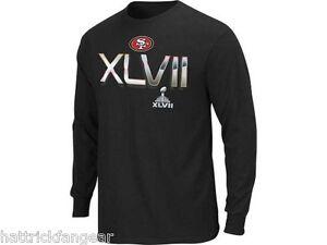 San Francisco 49res NFL On Our Way Super Bowl XLVII Football Long Slv T-Shirt L