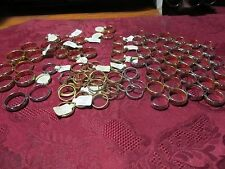 Lot of 93 Unisex Gold Filled & Plated Sterling Band Fashion Rings