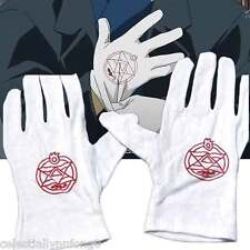 Anime Fullmetal Alchemist Roy Mustang Cosplay Cotton Gloves Colonel Edward Elric