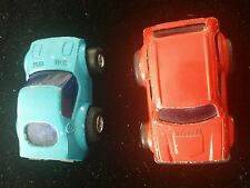 """Vintage Nomura  steel Chassis Toys Pocket Dash 2 1/4"""" Friction Toy Cars ¤ 2 cars"""