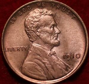 1910 Philadelphia Mint Copper Lincoln Wheat Cent