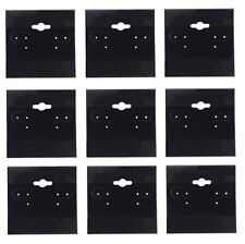 100 Pcs Black Earring Display Hang Flocked Cards 2�€X 2�€Jewelry Hanging Card