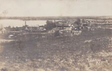 RR Lake Ann Traverse MI RPPC 1910 M&NE MANISTEE & NORTHEASTERN RR BEFORE FIRE!!!