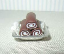 Miniature Dollhouse 1:12 Scale Chocolate Sweet Rolls Tray-Delph Miniatures - S21