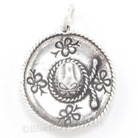 SOMBRERO Charm Pendant HAT Travel Trip MEXICAN MEXICO 925 STERLING SILVER 3D