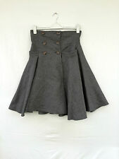 "LENA HOSCHEK ""Work Skirt "" High-end Wollrock Grau Gr.L  wie NEU !"