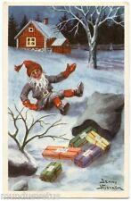 J. NYSTRÖM. MINI CARTE POSTALE.GNOMES.NOËL.CHRISTMAS. SMALL POSTCARD.7.2 X 11 Cm