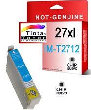 Cartucho Tinta Non Oem Epson 27XL Cian Compatible ALTA CAPACIDAD C13T27124010