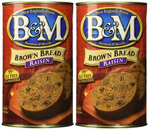B & M BREAD BROWN RAISIN, 16 OZ Pack of 2