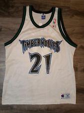 Minnesota Timberwolves Kevin Garnett #21 Nba Basketball Champion Jersey Mens 48