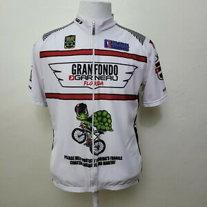 LOUIS GARNEAU MEN'S GRAN FONDO FLORIDA SHORT SLEEVE CYCLING JERSEY SIZE XL