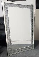 Extra large diamond crushed gems mirror 90cmx60cm lounge jewelled bedroom bling