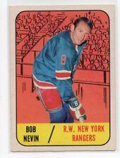 1X BOB NEVIN 1967 68 Topps #28 EXMT-NRMT NEW YORK RANGERS 67-68