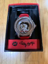 Betty Boop Girl's Watch 2013 King Features Syndicates Blowing A Kiss Jeweled 2