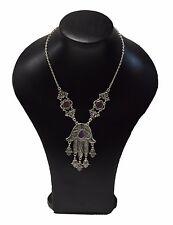 Moroccan Necklace Hand of Fatima Arabic Evil eye Hamza Berber Ethnic Tribal