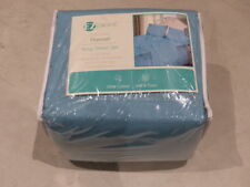 Ez Dreams Flannel 4 Piece Sheet Set King Blue 86119