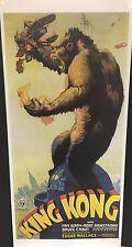 locandina King Kong (1933) cm. 33x70 ristampa digitale in tiratura limitata