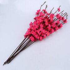 US 5pcs Artificial Plum Blossom Branch Desktop Home Decor Gifts Hot Red Flower