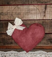 Handmade Primitive Heart Wall Hanging Peg Hanger