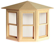 """Dollhouse Double Hung Bay Working Window  1/12"""" Scale HW5020"""