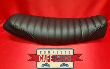 (BS1) BRAT / SCRAMBLER STYLE CAFE RACER SEAT FINISHED IN BLACK LEATHERETTE