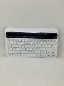 Samsung Keyboard Dock for Galaxy Tab 10.1 White Model ECR-K14AWE Clean Tested