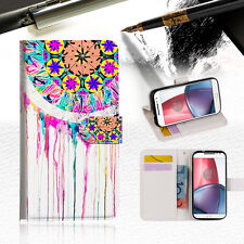 Dream Catcher Wallet TPU Case Cover For Motorola Moto X Force-- A015