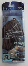 SIGNED SacAnime  STEVE DOWNES   Master Chief  With Cloak  HALO 4 Action Figure