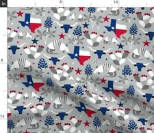 Texas State Flag Usa Strong Pride Patriotic Fabric Printed by Spoonflower Bty