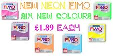 57g Block Of FIMO Effect Neon Polymer Clay Modelling Jewellery Craft Art Tumdee