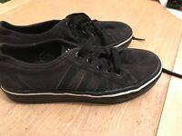 Adidas Nizza canvas sneakers black size 3