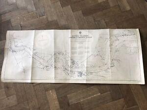 Rainham Creek to Thameshaven Vintage map of River Thames Port of London 1946