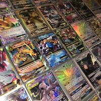 Pokemon Card Lot 100 OFFICIAL TCG CARDS + Ultra Rare! GX EX MEGA OR V + Holos