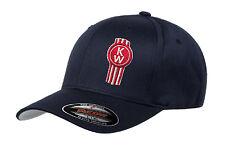 Kenworth KW hat cap fitted flexfit curved bill Trucker Truck Rig Diesel