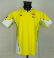 WALES NATIONAL RUGBY SHIRT JERSEY UNDER ARMOUR SIZE YXL VGC