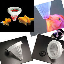 2x Aquarium Tank Live Worm Bloodworm Cone Fish Feed Funnel Tool Basket Feeder .