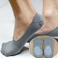 5 color Cotton Invisible Men Shallow Mouth Socks Classic BAMBOO Slippers WFAU
