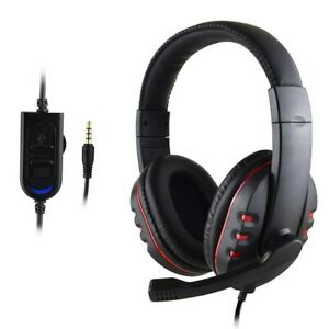 Pro Gamer Mic Gaming Headset Stereo Bass Surround Headphone For PS5/Xbox One/PC