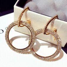 One Pair earring 2 style wear/Large Dangling Hoop Earring/Simulated Diamond/E765
