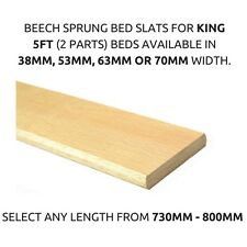 Replacement 5ft King Bed Beech Sprung Bed Slats- Any Length- 38mm,53mm,63mm,70mm
