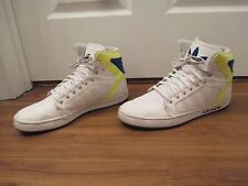 Used Worn Size 13 Adidas Originals Adi High EXT Shoes White Yellow Blue