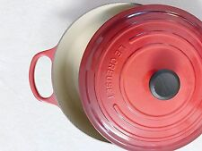 Le Creuset Enamled Cast-Iron 6.75Qt Risotto Round Dutch Oven Cherry Red NEW