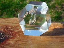 Iittala Timo Sarpaneva Faceted Crystal Ice Orchid Bud Vase Mid Century Modern