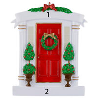 MAXORA Red Door Personalized Christmas Ornament Home Decoration With Gift Box